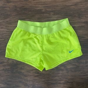 Girls yellow Nike shorts size S